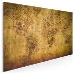 stara mapa do wnętrza w stylu kolonialnym