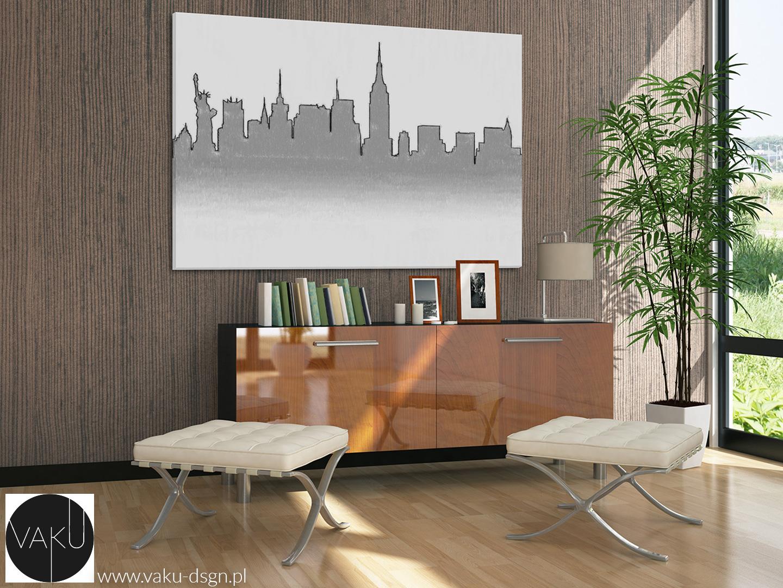 obraz ze szkicem Nowego Jorku