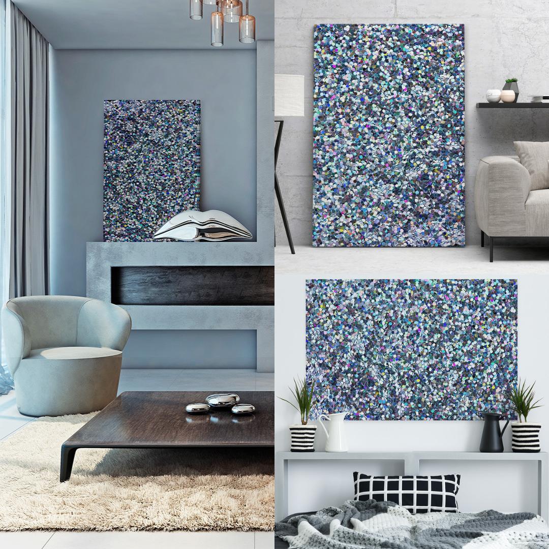 fotoobraz abstrakcyjny do salonu w stylu glamour