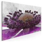 obraz z kwiatem w kolorze purpurowym - maksymalizm, czyli mniej nie znaczy już więcej