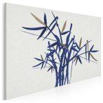 obraz z motywem bambusa - styl japandi hybryda kultur w minimalistycznym wydaniu