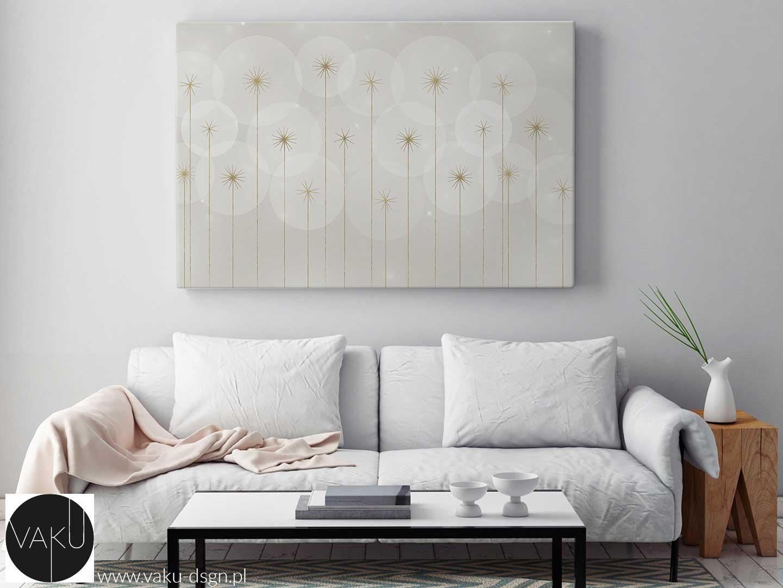 abstrakcyjny obraz w kolorze beżowym - Vanilla Custard - propozycja instytutu Pantone na sezon jesień-zima 2019/2020