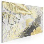 obraz ze złotymi liśćmi - Złote liście we wnętrzach – najmodniejszy trend tego roku!