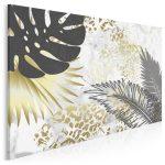 tropikalny obraz ze złotymi liśćmi - Złote liście we wnętrzach – najmodniejszy trend tego roku!