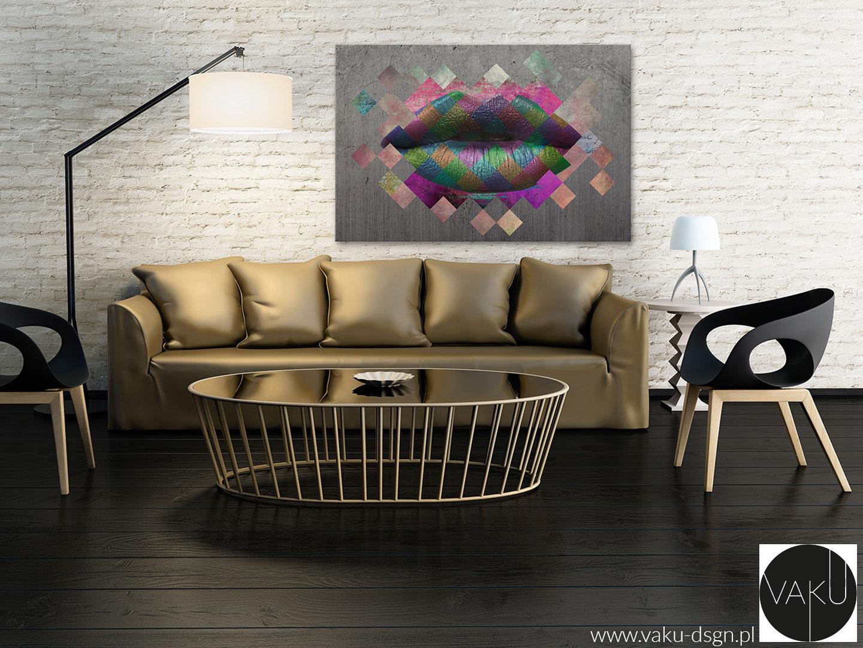 obraz z motywem ust do salonu kosmetycznego