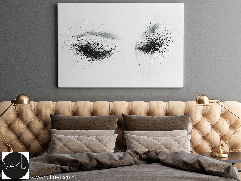 czarno-biały obraz z motywem oczu do salonu kosmetycznego