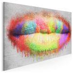 obraz z motywem kolorowych ust
