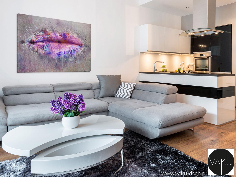 obraz z motywem różowych ust do salonu kosmetycznego