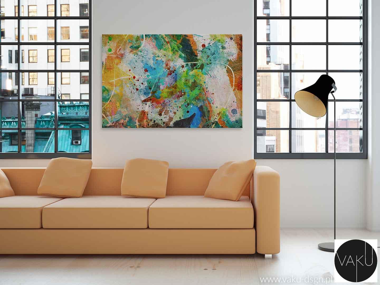 artystyczny obraz abstrakcyjny