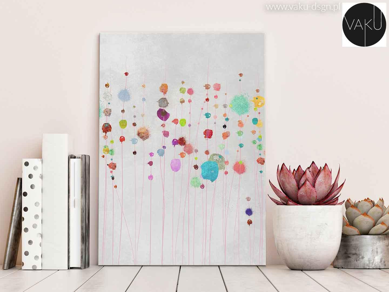 kolorowy obraz minimalistyczny