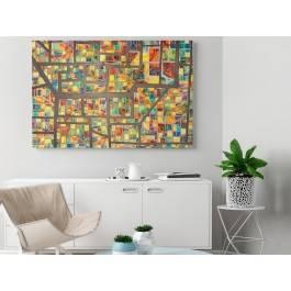 Szkiełko i oko - nowoczesny obraz na płótnie - 120x80 cm