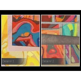 Szkiełko i oko - nowoczesny obraz na płótnie