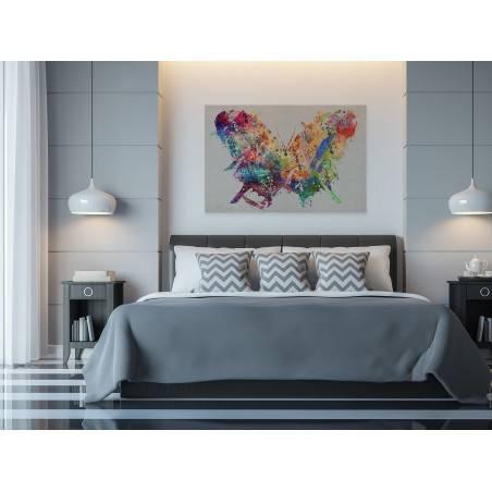 Motylarium - nowoczesny obraz na płótnie - 120x80 cm