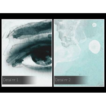 Dusza z antracytu - nowoczesny obraz na płótnie - 120x80 cm