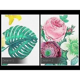 Wiosenny zielnik - nowoczesny obraz na płótnie - 120x80 cm