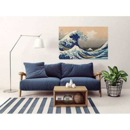 Wielka fala - nowoczesny obraz na płótnie - 120x80 cm
