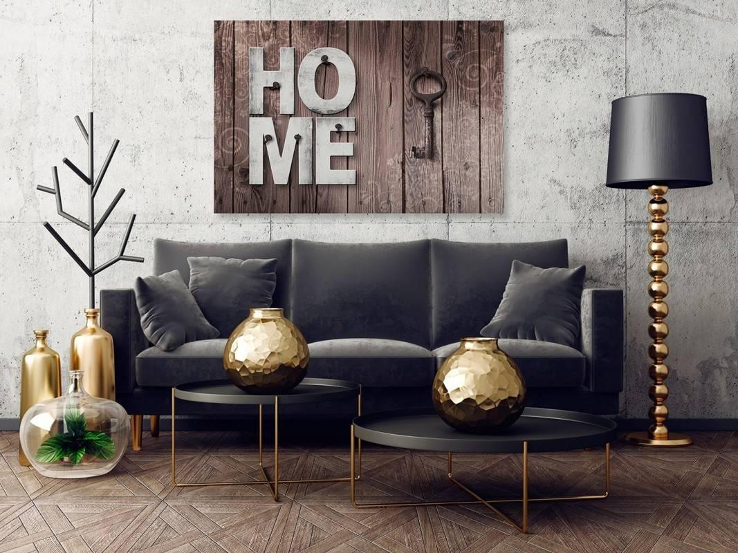 Domowa twierdza - nowoczesny obraz na płótnie - 120x80 cm