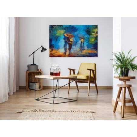 Rozmowy o miłości - nowoczesny obraz na płótnie - 120x80 cm