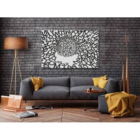 Kłębek myśli - nowoczesny obraz na płótnie - 120x80 cm