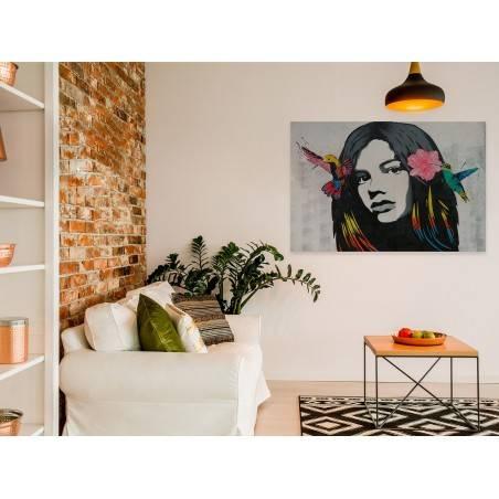 Królowa kolibrów - fotoobraz do sypialni - 120x80 cm