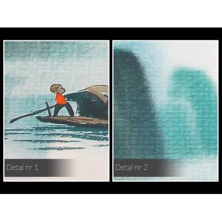 Wielki połów - nowoczesny obraz na płótnie - 120x80 cm