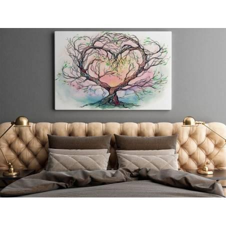 Drzewo miłości - nowoczesny obraz na płótnie - 120x80 cm