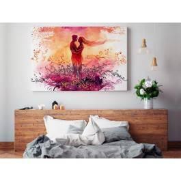 Randez-vous - nowoczesny obraz na płótnie - 120x80 cm