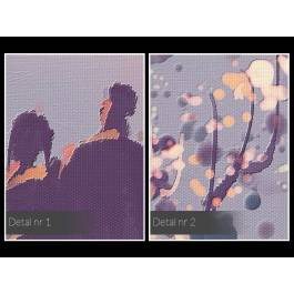 Miłosne manewry - nowoczesny obraz na płótnie - 120x80 cm