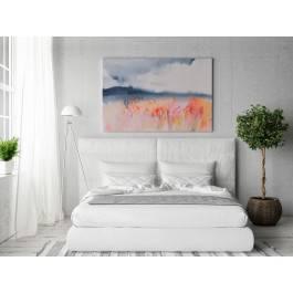 Rekonesans szczęścia - nowoczesny obraz do sypialni - 120x80 cm