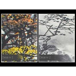 Wodospad pereł - nowoczesny obraz na płótnie - 120x80 cm