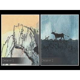 Zatoka bawołów - nowoczesny obraz na płótnie - 120x80 cm