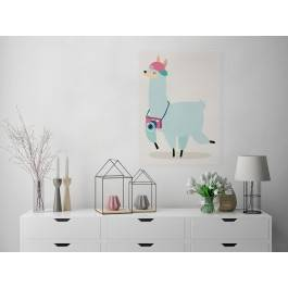 Globtroter Karol - nowoczesny obraz na płótnie - 50x70 cm