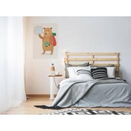 Wędrownik Lucjan - nowoczesny obraz na płótnie - 50x70 cm
