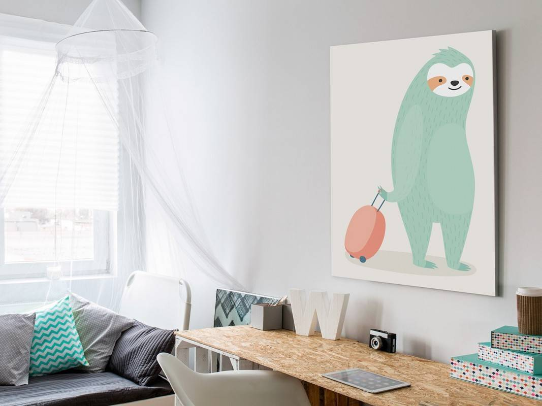 Urlopowicz Grześ - nowoczesny obraz na płótnie - 50x70 cm