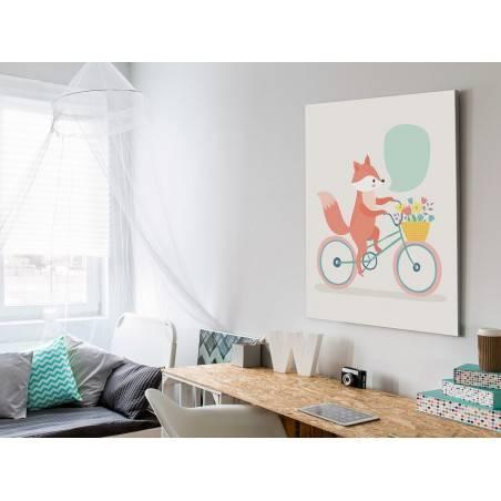 Letniczka Emilia - nowoczesny obraz na płótnie - 50x70 cm