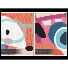 Autostopowiczka Dorota - nowoczesny obraz na płótnie