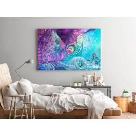 Zaklęte pióro - nowoczesny obraz do sypialni