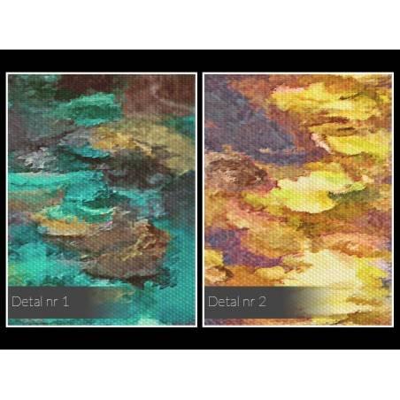 Odbicie deszczowego miasta - nowoczesny obraz na płótnie - 80x80 cm