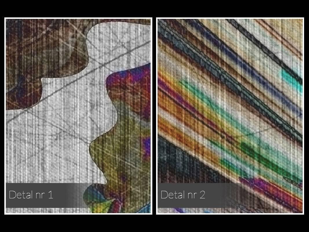 Taniec żywiołów - nowoczesny obraz na płótnie - w kwadracie - 80x80 cm