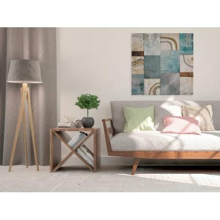 Mozaika myśli - nowoczesny obraz na płótnie - 80x80 cm