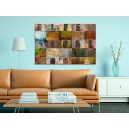 Life, Home, Love - nowoczesny obraz na płótnie