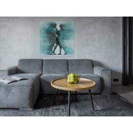 Metafizyka miłości w turkusach - nowoczesny obraz na płótnie - 80x80 cm