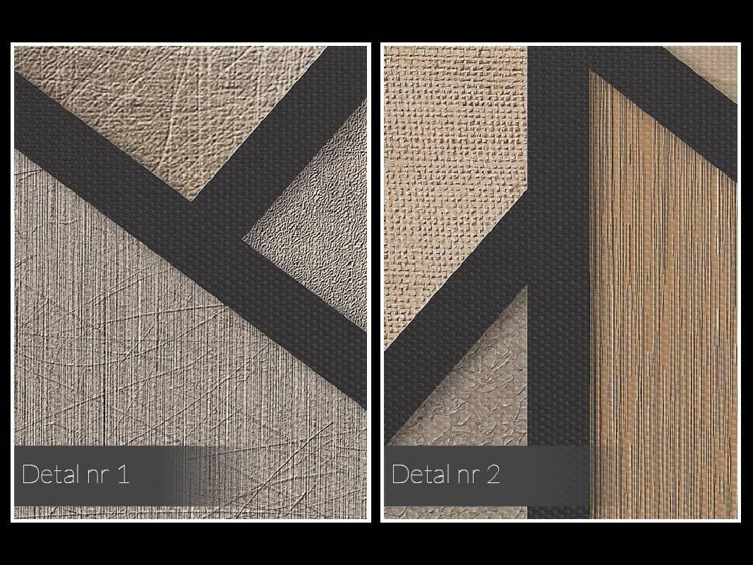 Modne beże, brązy i kremy - nowoczesny obraz na płótnie - 120x80 cm