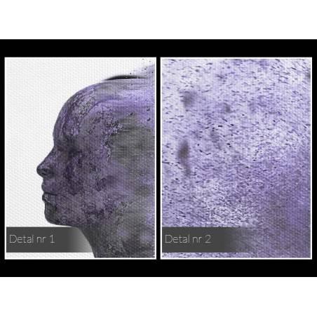 Metafizyka miłości we fioletach - nowoczesny obraz na płótnie - 80x80 cm