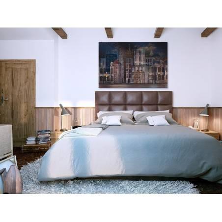 Moje miasto nocą - nowoczesny obraz do sypialni - 120x80 cm