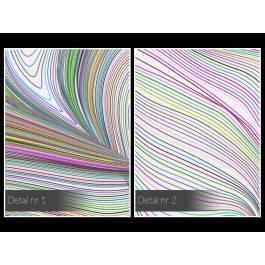 Asymptota - nowoczesny obraz na płótnie - 120x80 cm