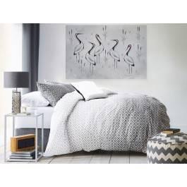 Ptasi sejmik - nowoczesny obraz na płótnie - 120x80 cm