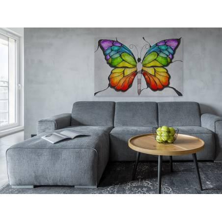 Amorficzna transformacja - nowoczesny obraz na płótnie - 120x80 cm