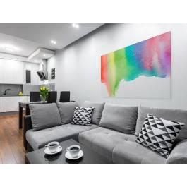 Siedem kolorów tęczy - nowoczesny obraz na płótnie