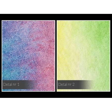Siedem kolorów tęczy - nowoczesny obraz na płótnie - 120x80 cm